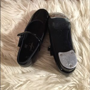 Tap Dance Black Shoes for Girls Size 10.